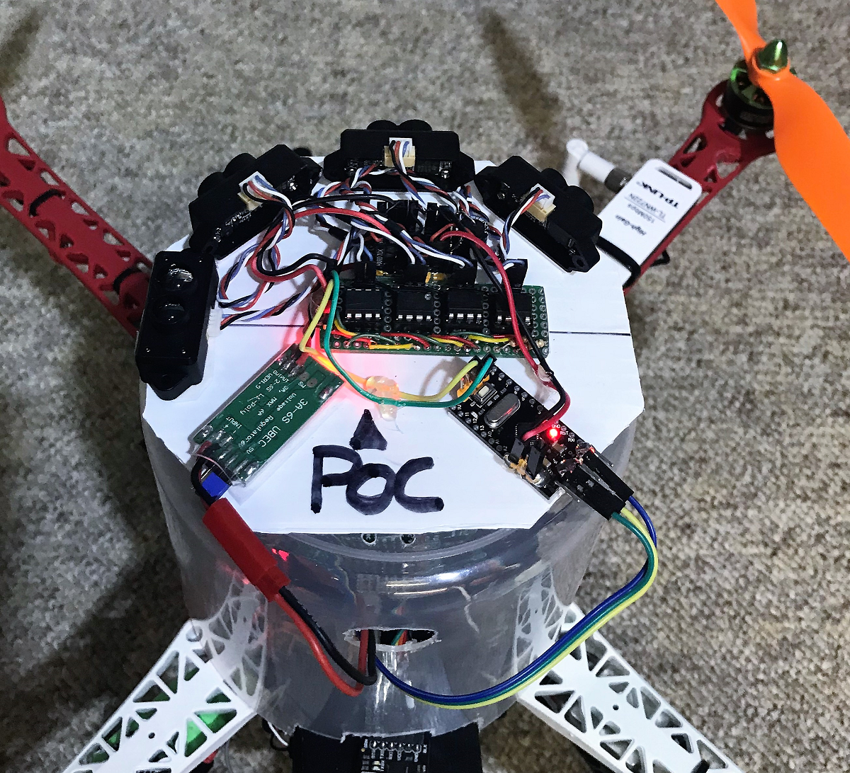 Avoidance Experiments with the POC and Benewake TFMINI