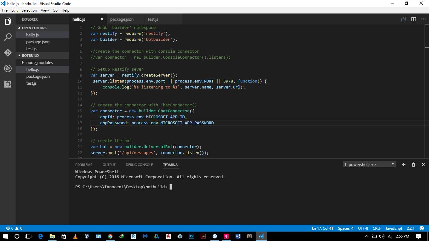 Microsoft/BotBuilder - Gitter