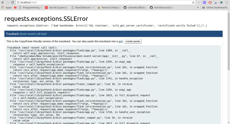 Python Requests Bad Handshake Certificate Verify Failed