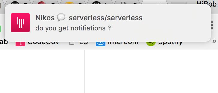 serverless/serverless - Gitter